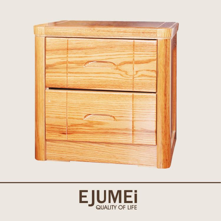 居美印尚 奥卡系列红橡木实木床头柜/柜子