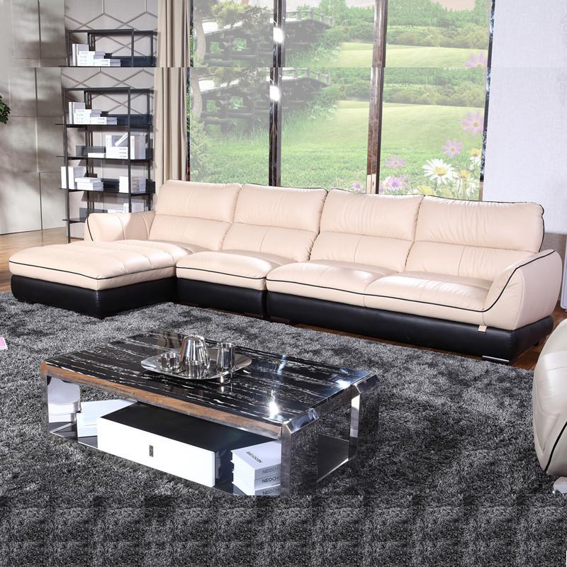 欧宝-朗驰皮沙发s058 现代系列 意大利头层牛皮沙发图片